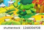 cartoon autumn nature...   Shutterstock . vector #1268306938