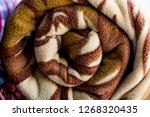 rolled woolen polar fleece... | Shutterstock . vector #1268320435
