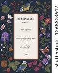 vintage vector card.... | Shutterstock .eps vector #1268323642