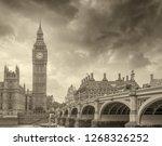 westminster bridge  london.... | Shutterstock . vector #1268326252