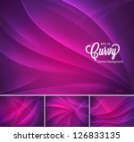 curvy abstract background | Shutterstock .eps vector #126833135