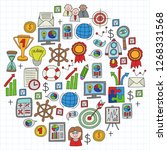 vector set of bussines icons in ...   Shutterstock .eps vector #1268331568