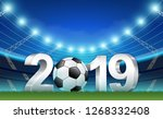 new year 2019 banner template... | Shutterstock .eps vector #1268332408