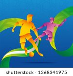 asian 2019 abstract sports... | Shutterstock .eps vector #1268341975