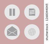 vector illustration. icon set... | Shutterstock .eps vector #1268344045