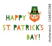 st. patrick s day vector... | Shutterstock .eps vector #1268352388