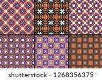 vector illustration. set of... | Shutterstock .eps vector #1268356375