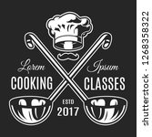 vintage cooking classes... | Shutterstock . vector #1268358322