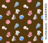 seamless pattern with... | Shutterstock . vector #1268359402