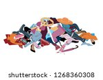 vector illustration with a... | Shutterstock .eps vector #1268360308