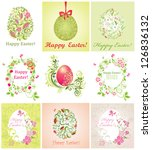 easter greeting beautiful cards | Shutterstock .eps vector #126836132