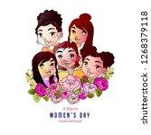 international women's day  8... | Shutterstock .eps vector #1268379118