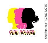 woman head silhouette  face... | Shutterstock .eps vector #1268382745