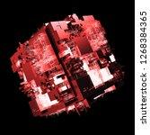 3d render complex abstract... | Shutterstock . vector #1268384365