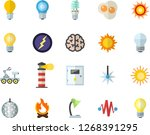 color flat icon set energy... | Shutterstock .eps vector #1268391295