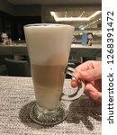 coffee   espresso macchiato is...   Shutterstock . vector #1268391472