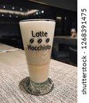 coffee   espresso macchiato is...   Shutterstock . vector #1268391475