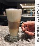 coffee   espresso macchiato is...   Shutterstock . vector #1268391478