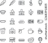 thin line icon set   coffee... | Shutterstock .eps vector #1268391805
