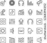 thin line icon set   vinyl... | Shutterstock .eps vector #1268394352