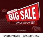 sale banner design. | Shutterstock .eps vector #1268398252