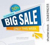 sale banner design. | Shutterstock .eps vector #1268398255