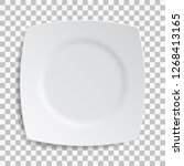 white dish plate isolated on... | Shutterstock .eps vector #1268413165