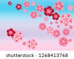 oriental apricot or japanese...   Shutterstock .eps vector #1268413768