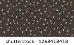 vintage floral pattern.... | Shutterstock .eps vector #1268418418