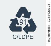 plastic recycling symbol c ldpe ... | Shutterstock .eps vector #1268420125