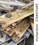 reclaimed salvage boards from... | Shutterstock . vector #1268421685