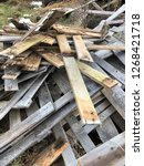 reclaimed salvage boards from... | Shutterstock . vector #1268421718