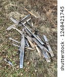 reclaimed salvage boards from... | Shutterstock . vector #1268421745