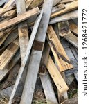 reclaimed salvage boards from... | Shutterstock . vector #1268421772