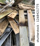 reclaimed salvage boards from... | Shutterstock . vector #1268421775