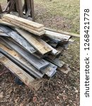reclaimed salvage boards from... | Shutterstock . vector #1268421778