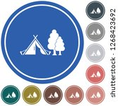 stylized icon of tourist tent.... | Shutterstock .eps vector #1268423692