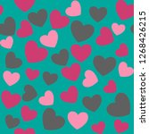 romantic seamless pattern with... | Shutterstock .eps vector #1268426215