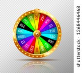 Stock vector fortune wheel realistic isolated on transparent background casino game of chance vector 1268446468