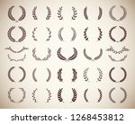 collection of different vintage ... | Shutterstock .eps vector #1268453812