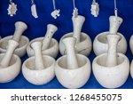 mortars traditional stone... | Shutterstock . vector #1268455075