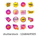sale banner templates design.... | Shutterstock .eps vector #1268469505
