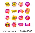 sale banner templates design.... | Shutterstock .eps vector #1268469508