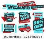 set of advertising labels  ...   Shutterstock .eps vector #1268483995