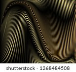 abstract gold luxurious wave... | Shutterstock .eps vector #1268484508