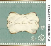 vintage border with lace and