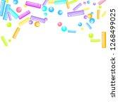 sprinkles grainy. sweet...   Shutterstock .eps vector #1268499025
