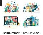 business series set  color 1  ... | Shutterstock .eps vector #1268499055
