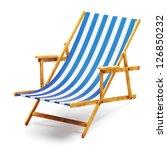 modern beach chair   Shutterstock . vector #126850232