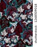 ivy colorful vector design...   Shutterstock .eps vector #1268509018